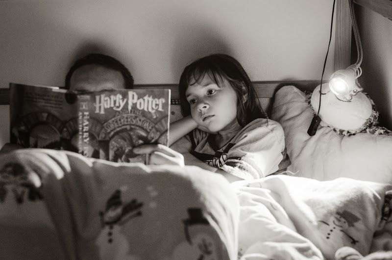 "I'm so totally lookin' forward to it...reading ""Harry Potter"" with my daughter!! :-)"