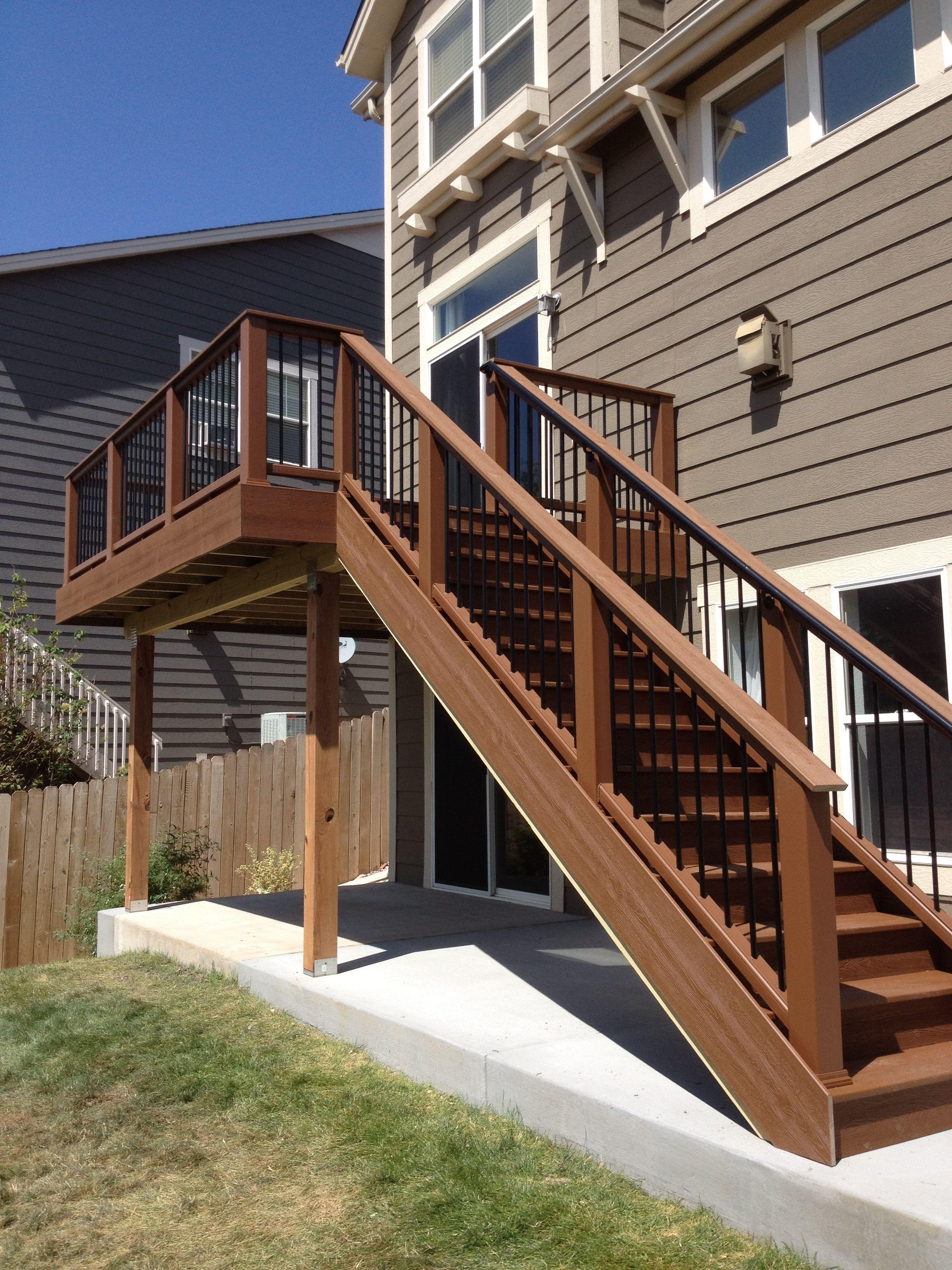 Trex Deck With Custom Railing Halliday Built Decks