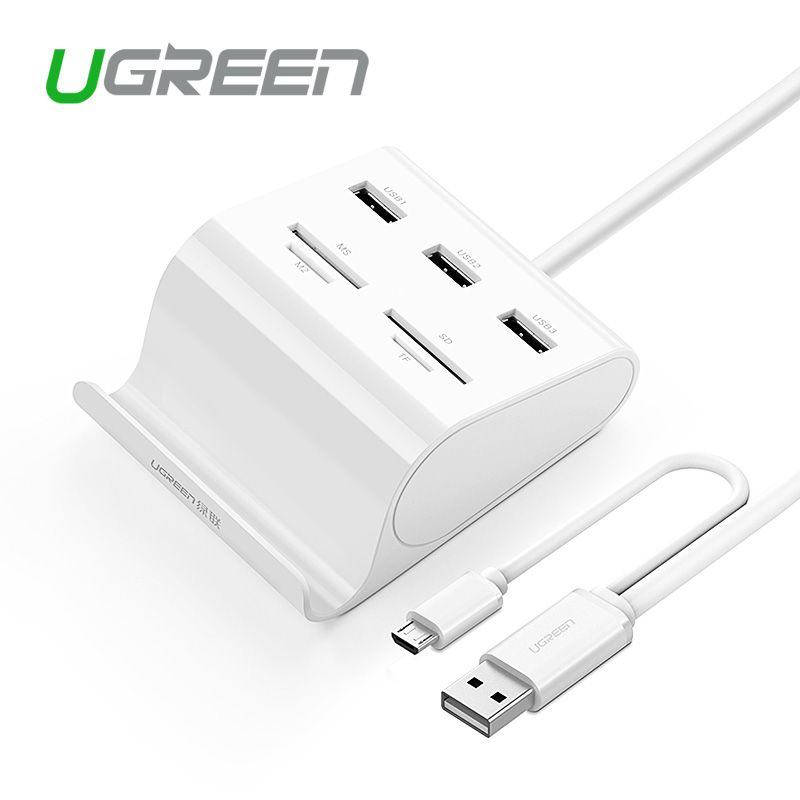 Ugreen All in 1 USB 3 0 HUB 3 Ports with Card Reader SD TF Flash