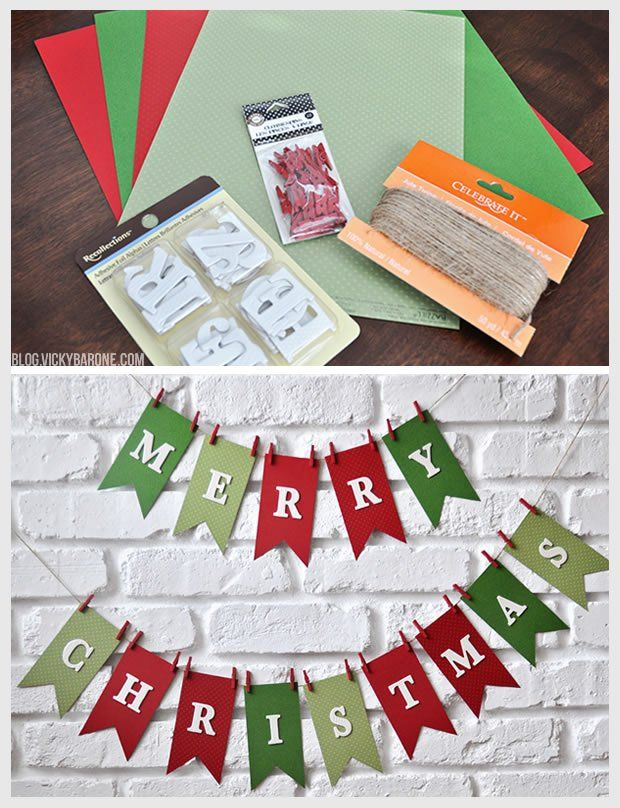 DIY Merry Christmas Garland Diy christmas garland