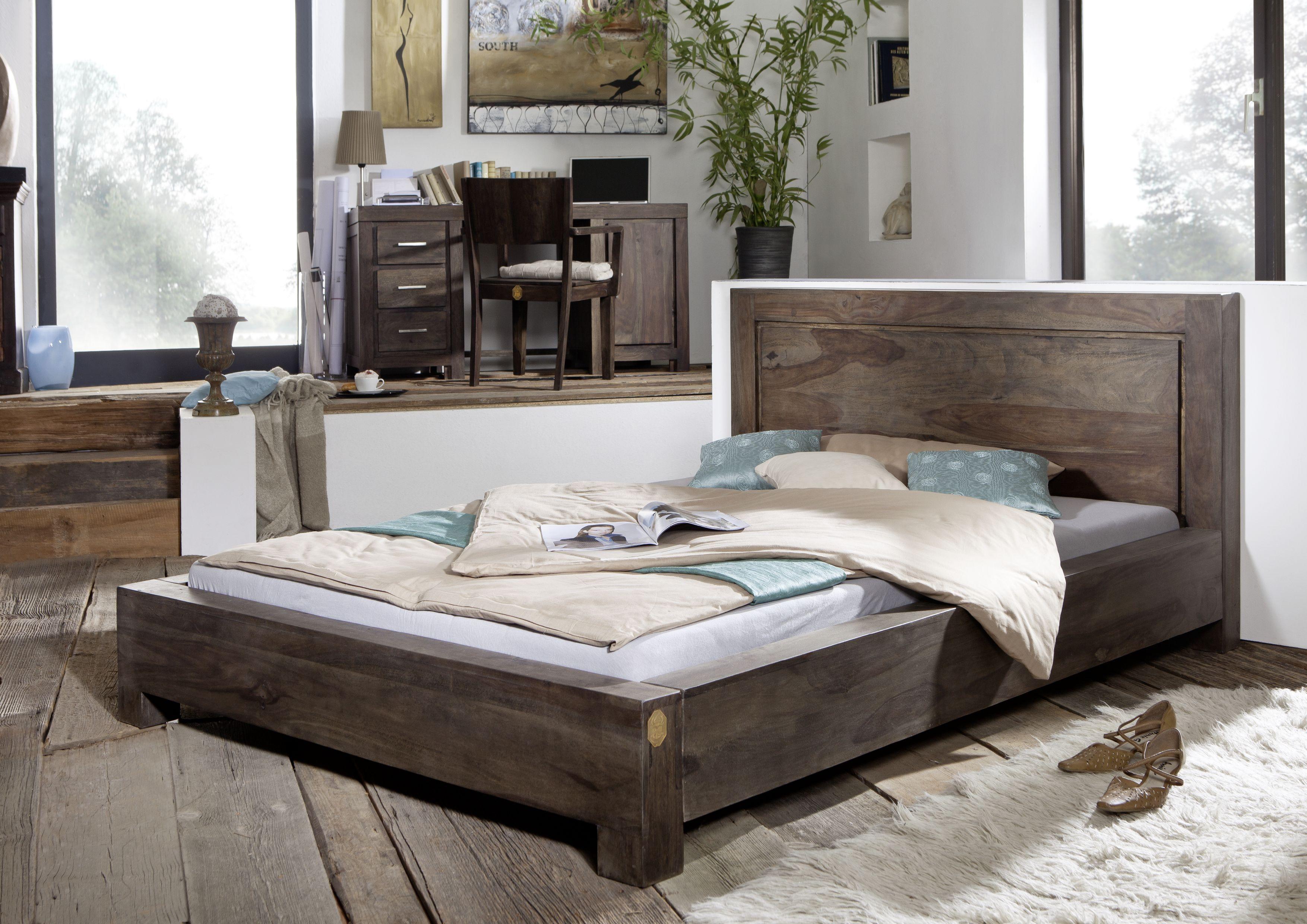 Dunkle Mobel Versandfrei Kaufen Massiv Bett Bett Modern Massivholzbett