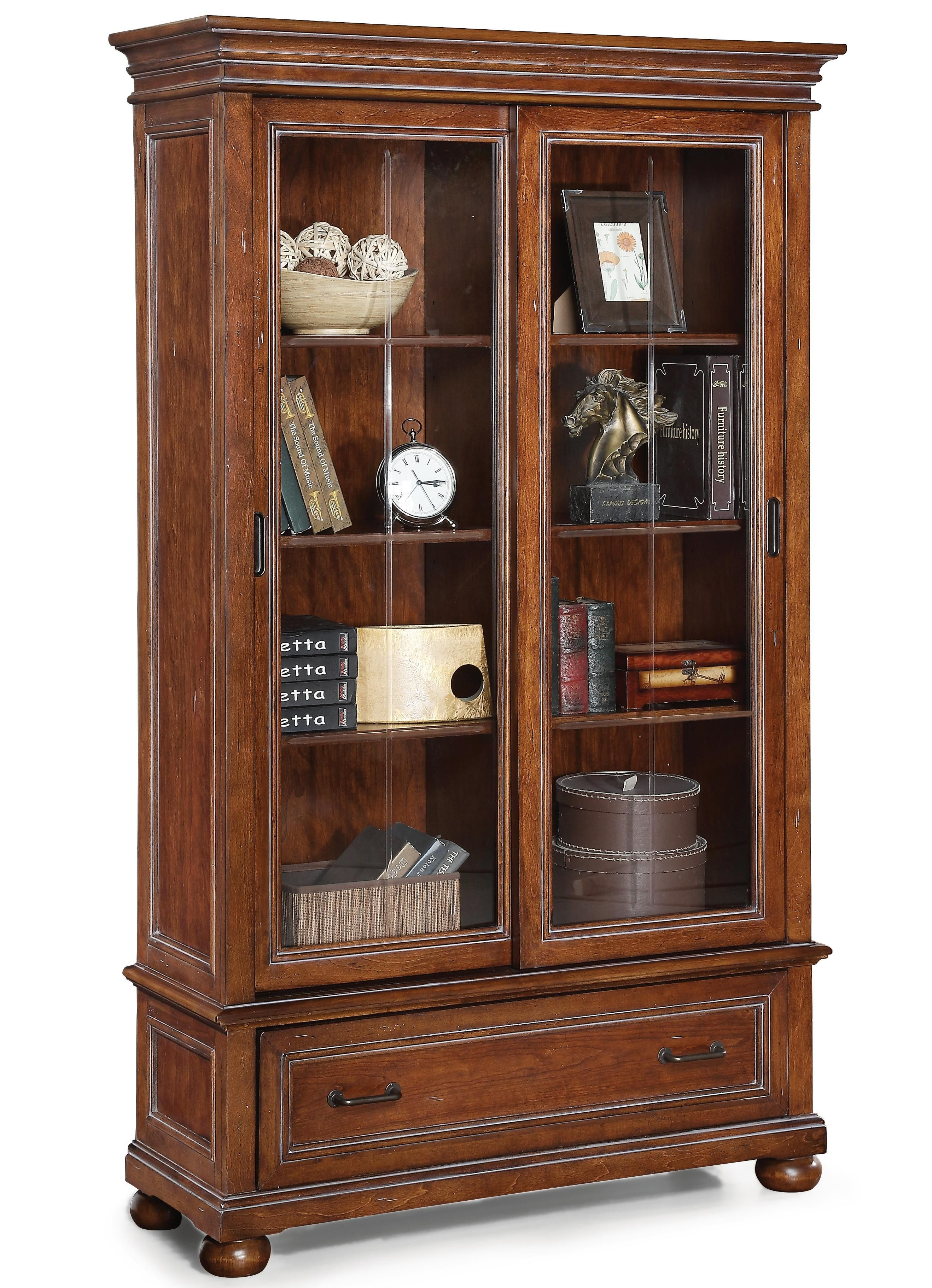Beau Shop For The Flexsteel Wynwood Collection American Heritage Sliding Door  Bookcase At Stegeru0027s Furniture   Your Peoria, Pekin, Bloomington, U0026 Morton,  IL ...