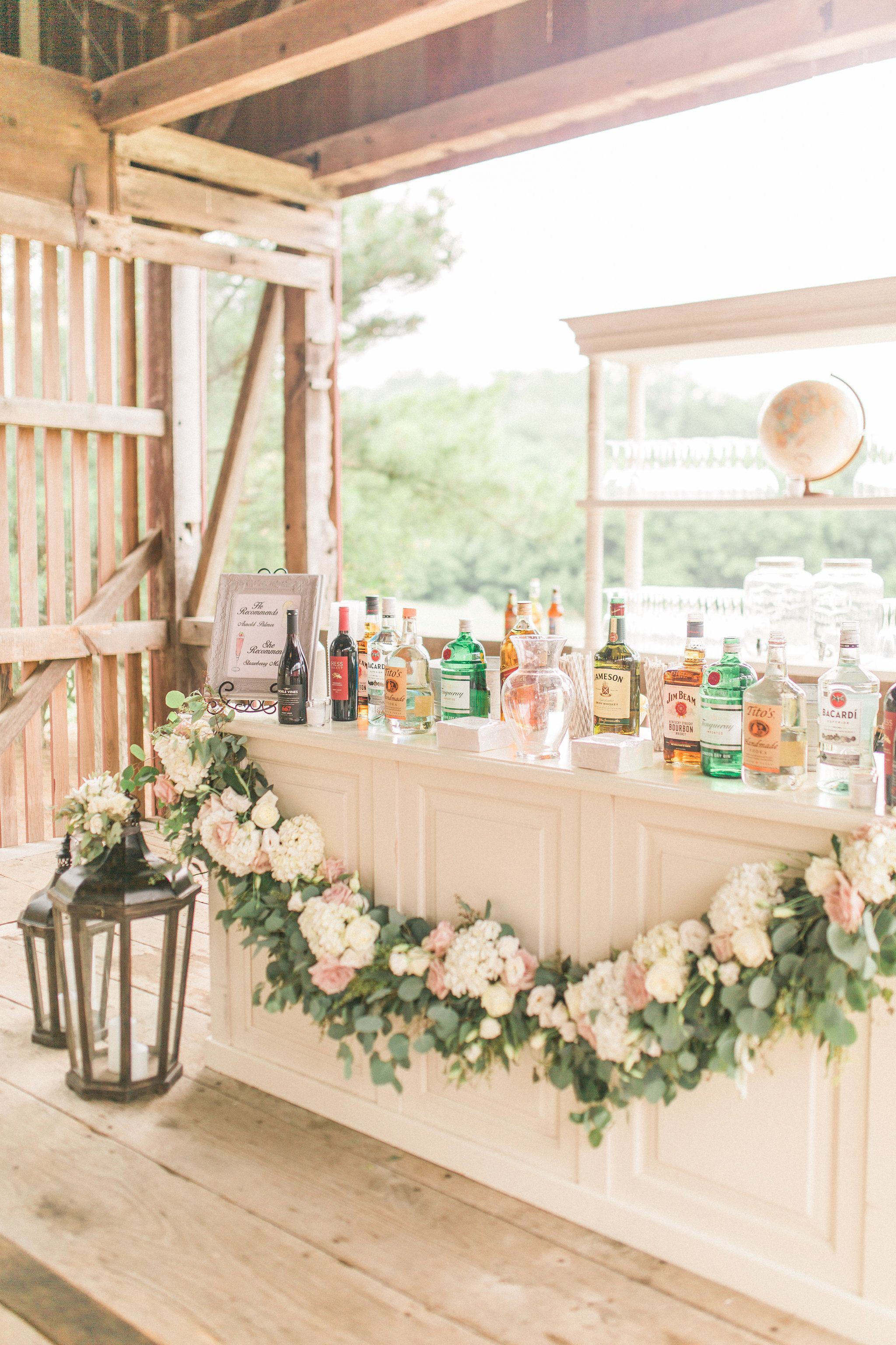 Romantic And Rustic White Wedding Bar Inspiration Rentals