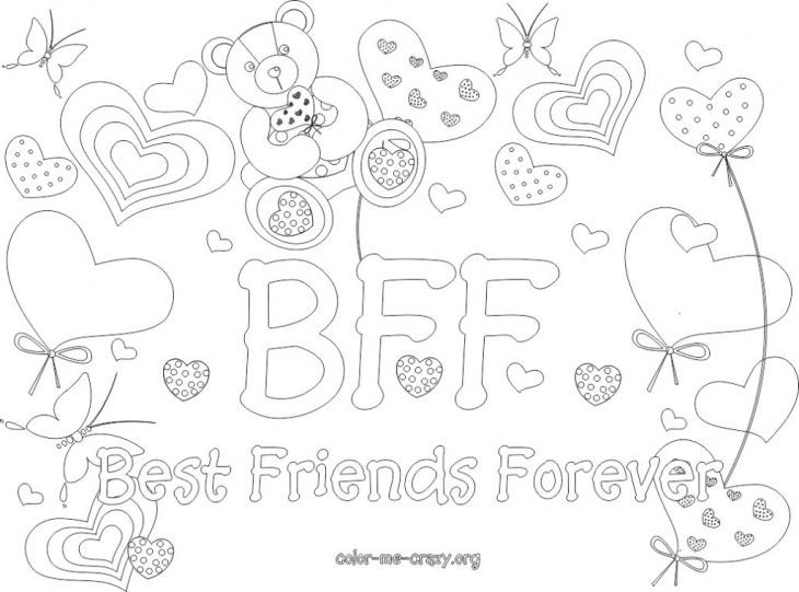 Bff Coloring Page Coloring Pages For Girls Pinterest Bff