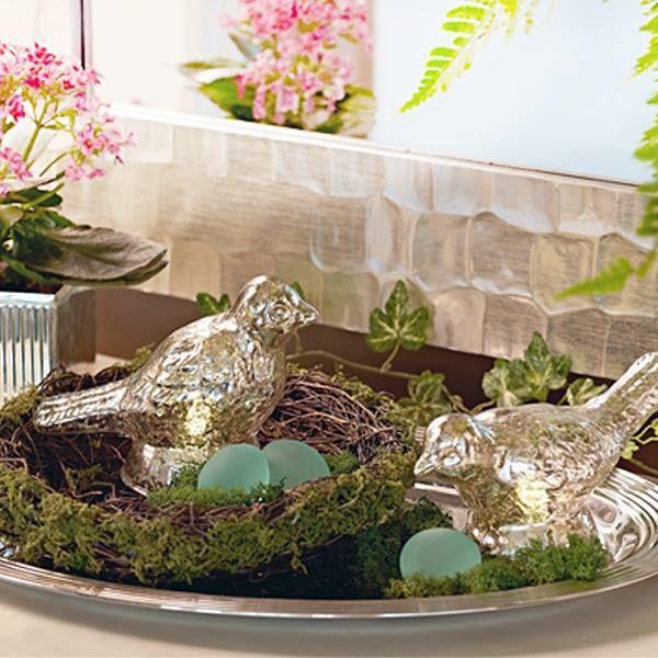 Pin By Paula Hadden On Qvc Valerie Parr Hill Spring Decor Glass Birds