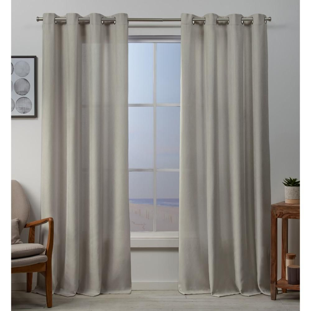 Exclusive Home Curtains Baxter 54 In W X 96 In L Textured