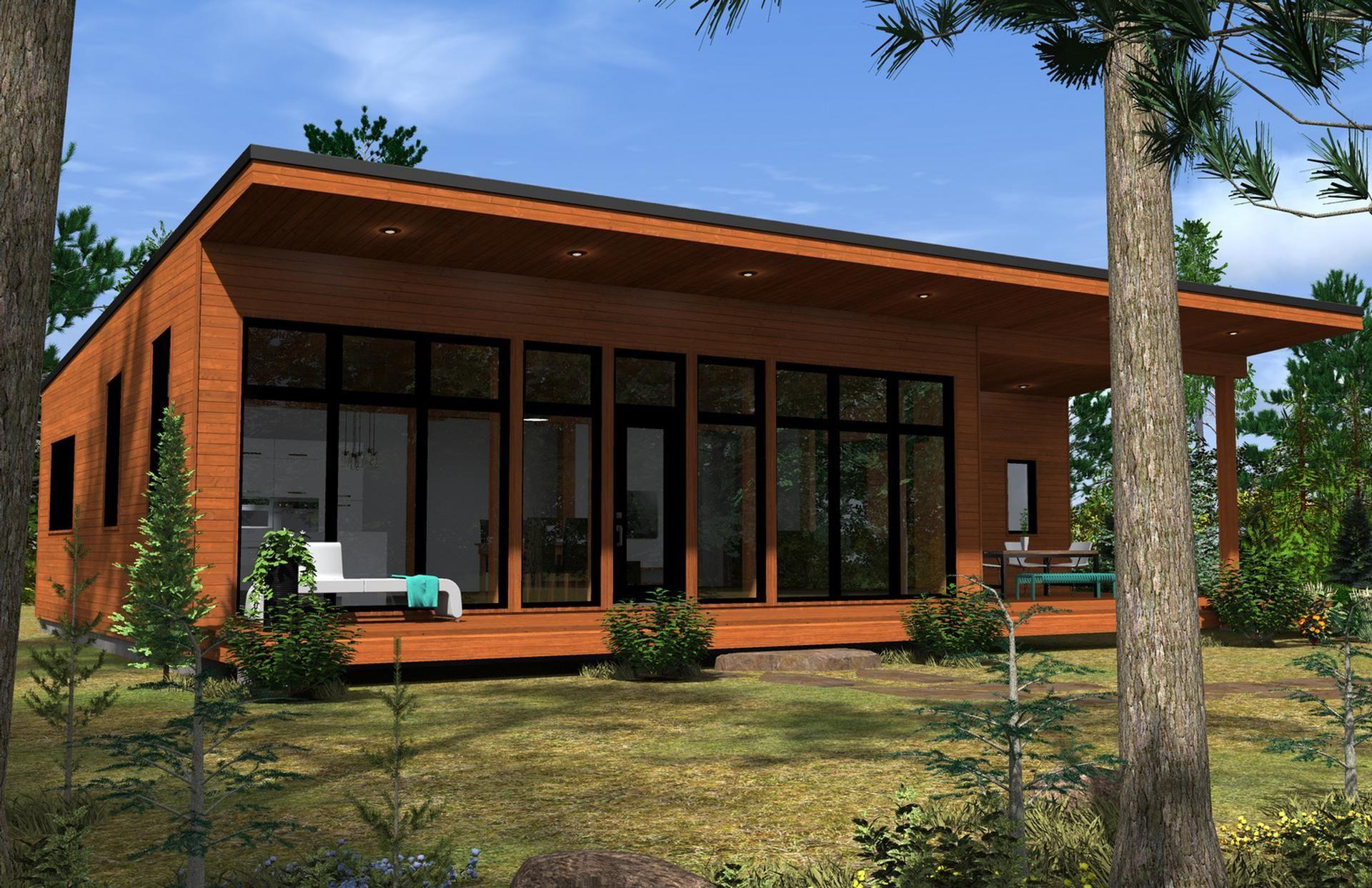 Kyo maison passive maison contemporaine de 1292 pieds carr s habitables sur dalle ou avec sous - Maison passive design ...