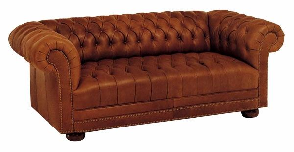 Modern Sectional Sofas club style couches Chesterfield Designer Style Leather Tufted Studio Full Sleeper Sofa
