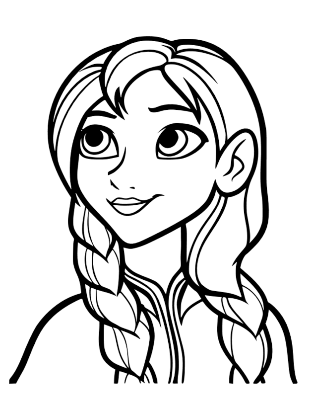 Displaying FROZEN Anna Vinyl.svg Coloriage princesse