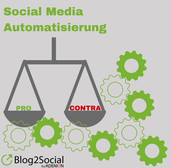 Vor- und Nachteile der Social Media Automatisierung #SocialMedia #Automatisierung #SocialMediaTool #Crossposting #Blog #BlogMarketing #Wordpress #WordpressPlugin #Pro #Contra