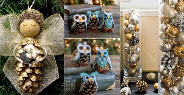 DIY: Pomysły na zimowe dekoracje z szyszek. Poczuj magię świąt!