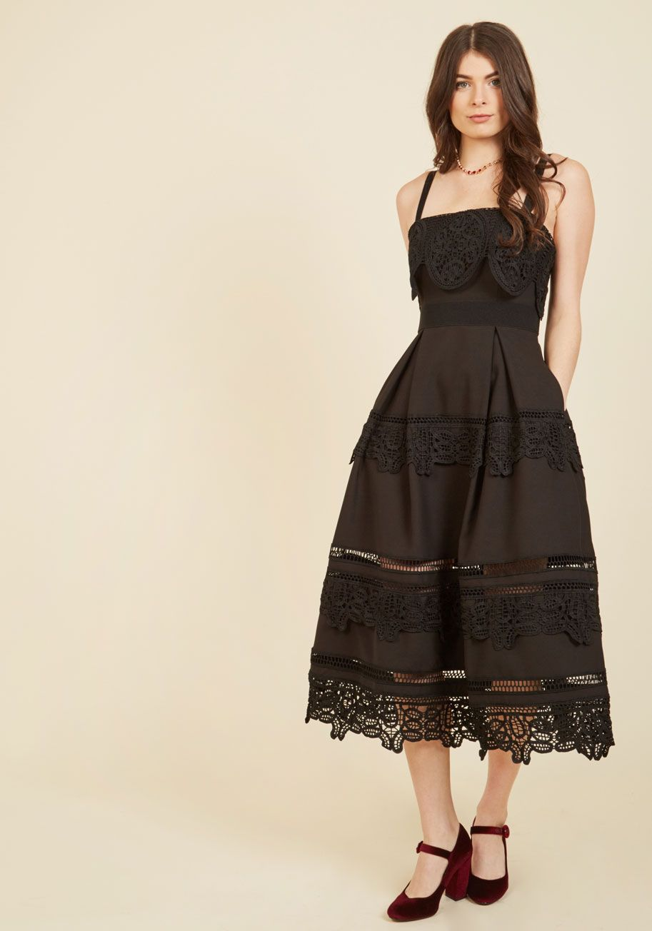 Immeasurable Magnificence Midi Dress There S No Limit To The Elegance And Grace This Black Midi Dress Offers B Mod Cloth Dresses Dresses Lace Shoulder Dress [ 1304 x 913 Pixel ]