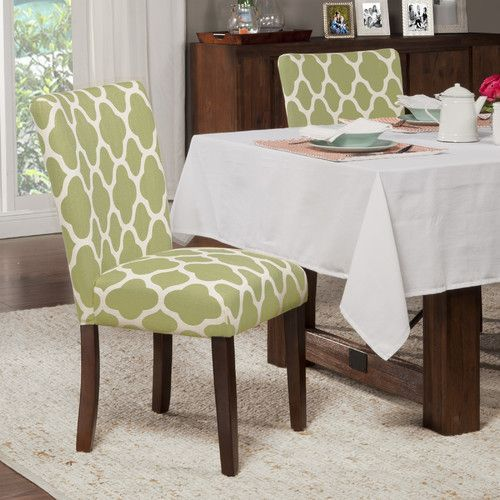 Coaster 101495 Light Green Microfiber Parsons Chair