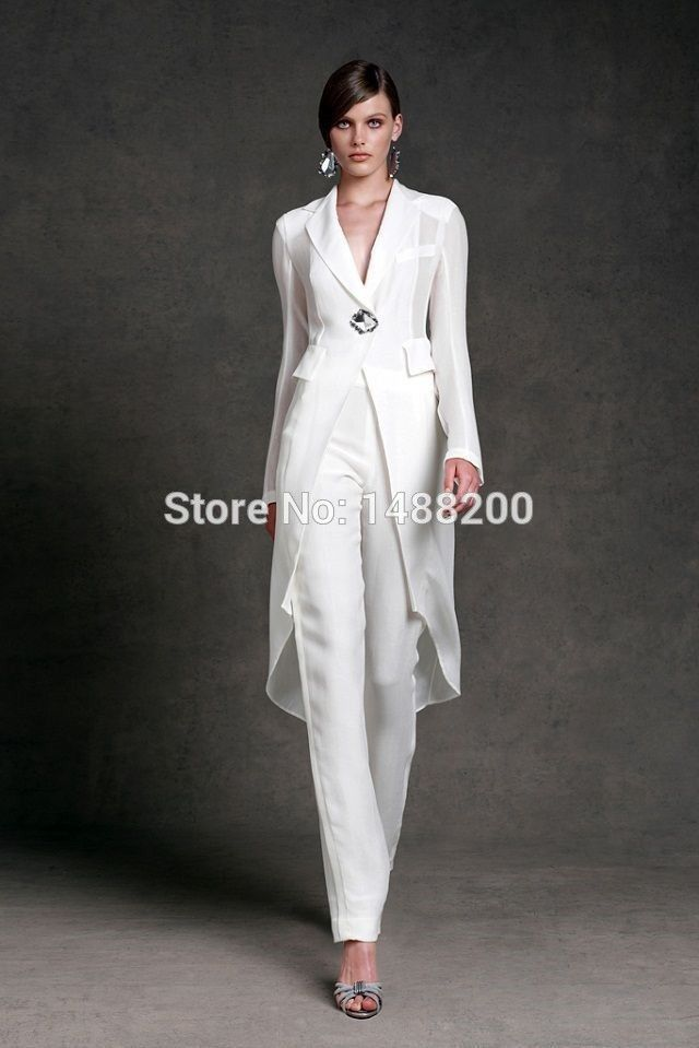 Custom Made New Chiffon Mother of the Bride Pant Suits with Long ...