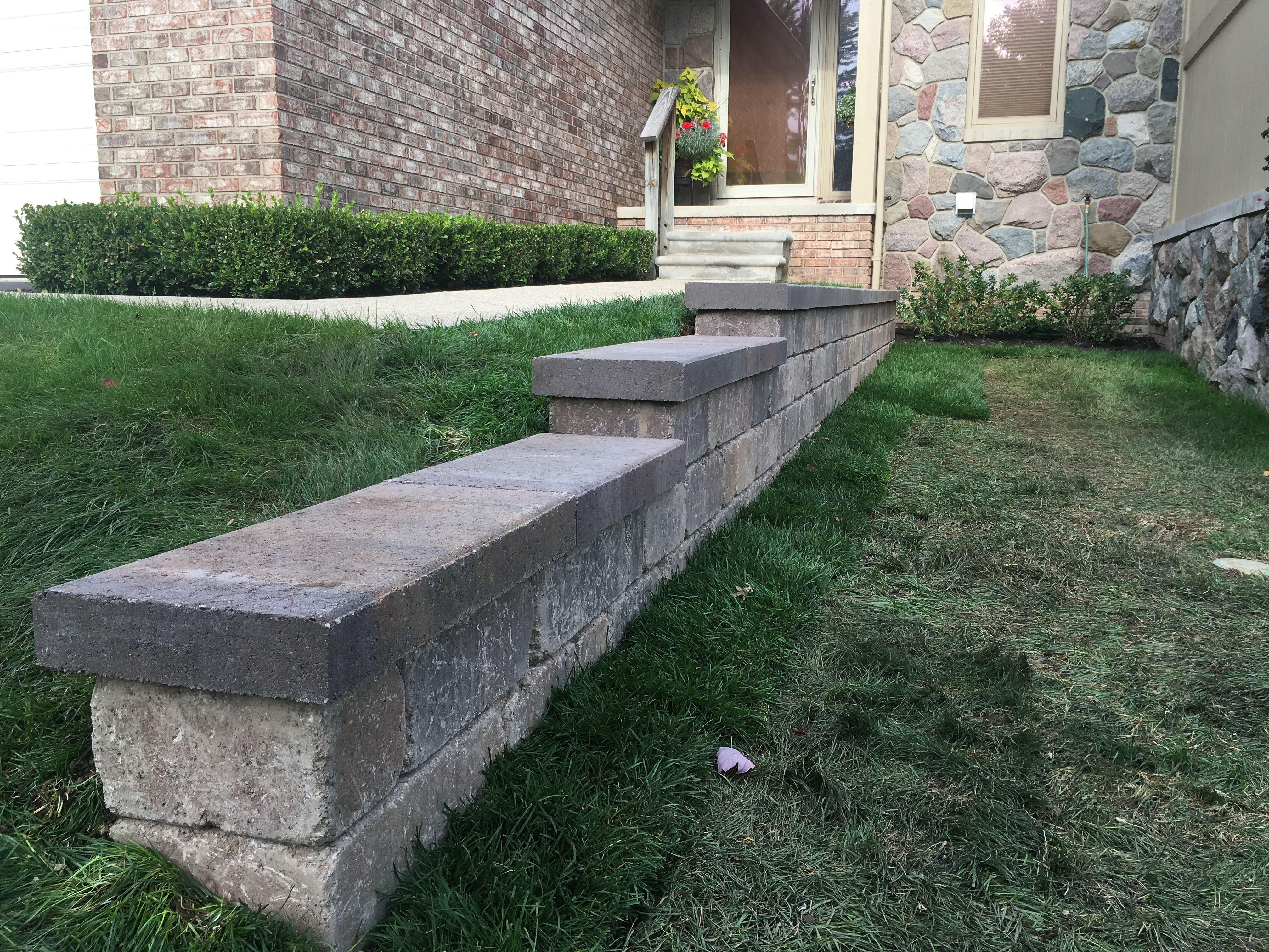 retaining wall with fendt stonegate wall block designer collin