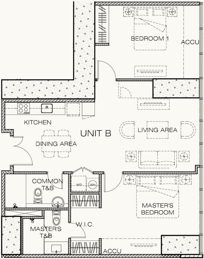 2 bedroom flat unit floor plan in west gallery newest luxury