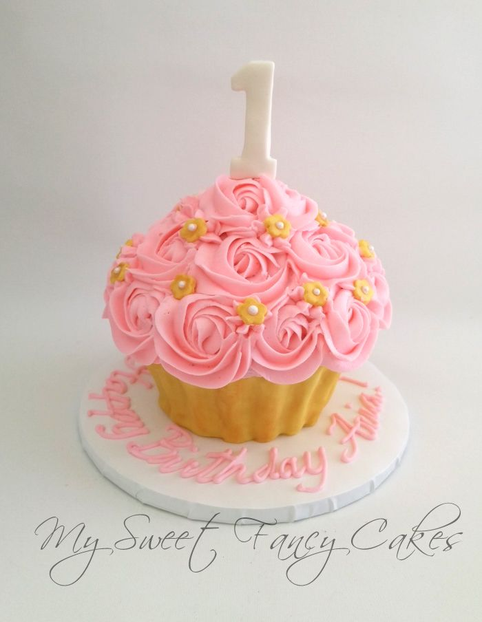 My Sweet Fancy Cakes Giant Cupcake Smash Cake Skylars First