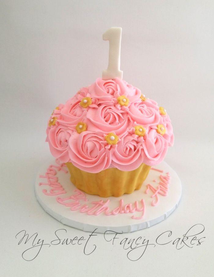 My Sweet Fancy Cakes: Giant Cupcake Smash Cake | Cupcake ...