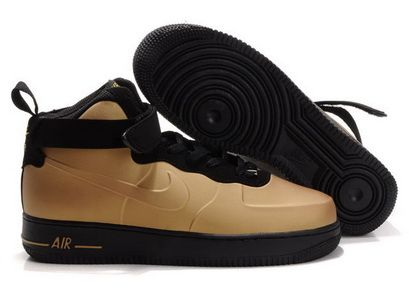 1c135e0f26ebfe Nike Air Force 1 Foamposite Brown Black Sneakers