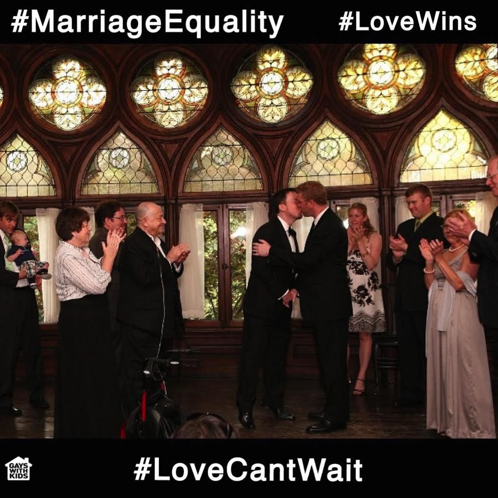 VICTORY at the Supreme Court! Today we look forward to celebrating many more #gaydad weddings! #LoveWins #LoveIsLove
