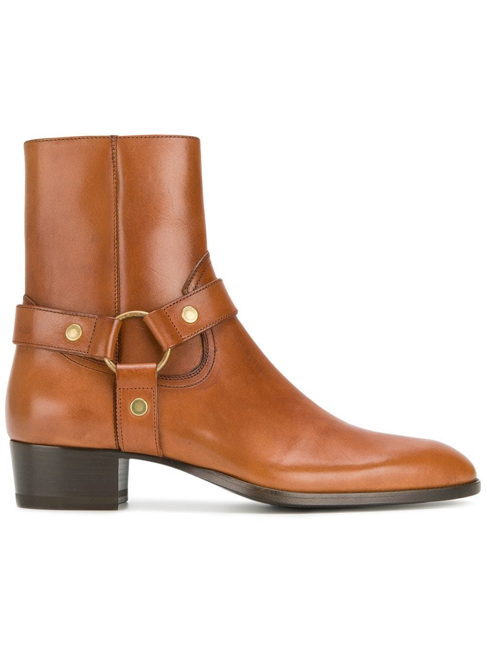 721906dd66 Saint Laurent Classic Wyatt 40 Harness boots - Brown | Products in ...