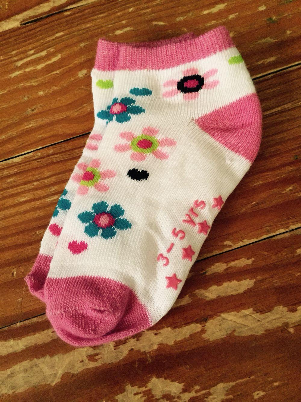 3-5 year flower socks