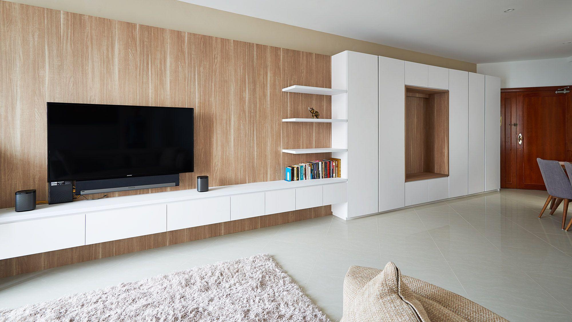 Bayshore modern contemporary home decor singapore - Interior design living room cabinets ...