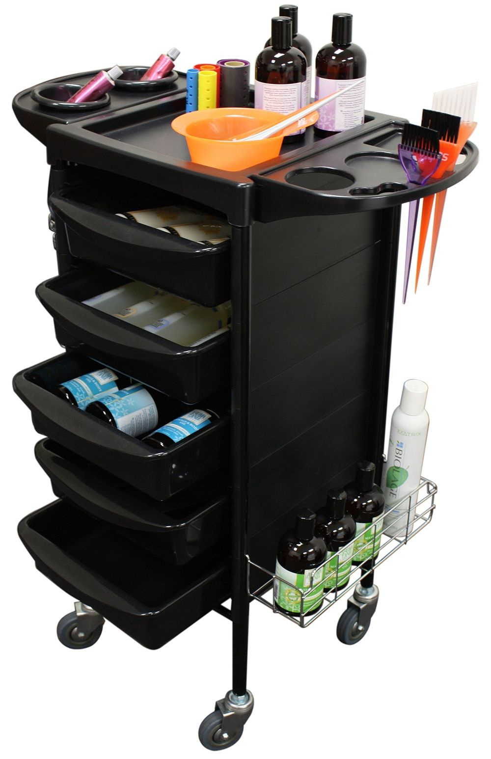 Mobile Storage Cabinets And Trolleys For Your Hair Nail Salon