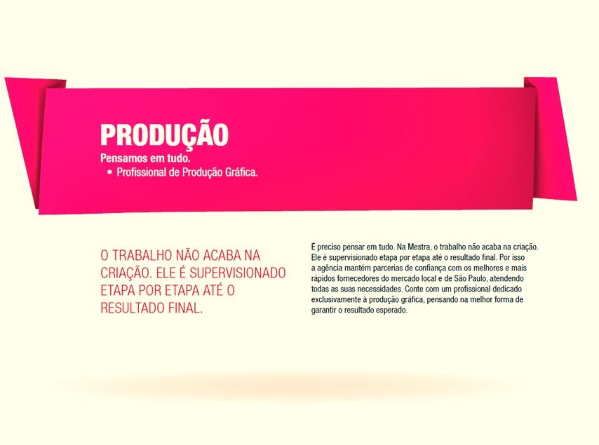A Produção.