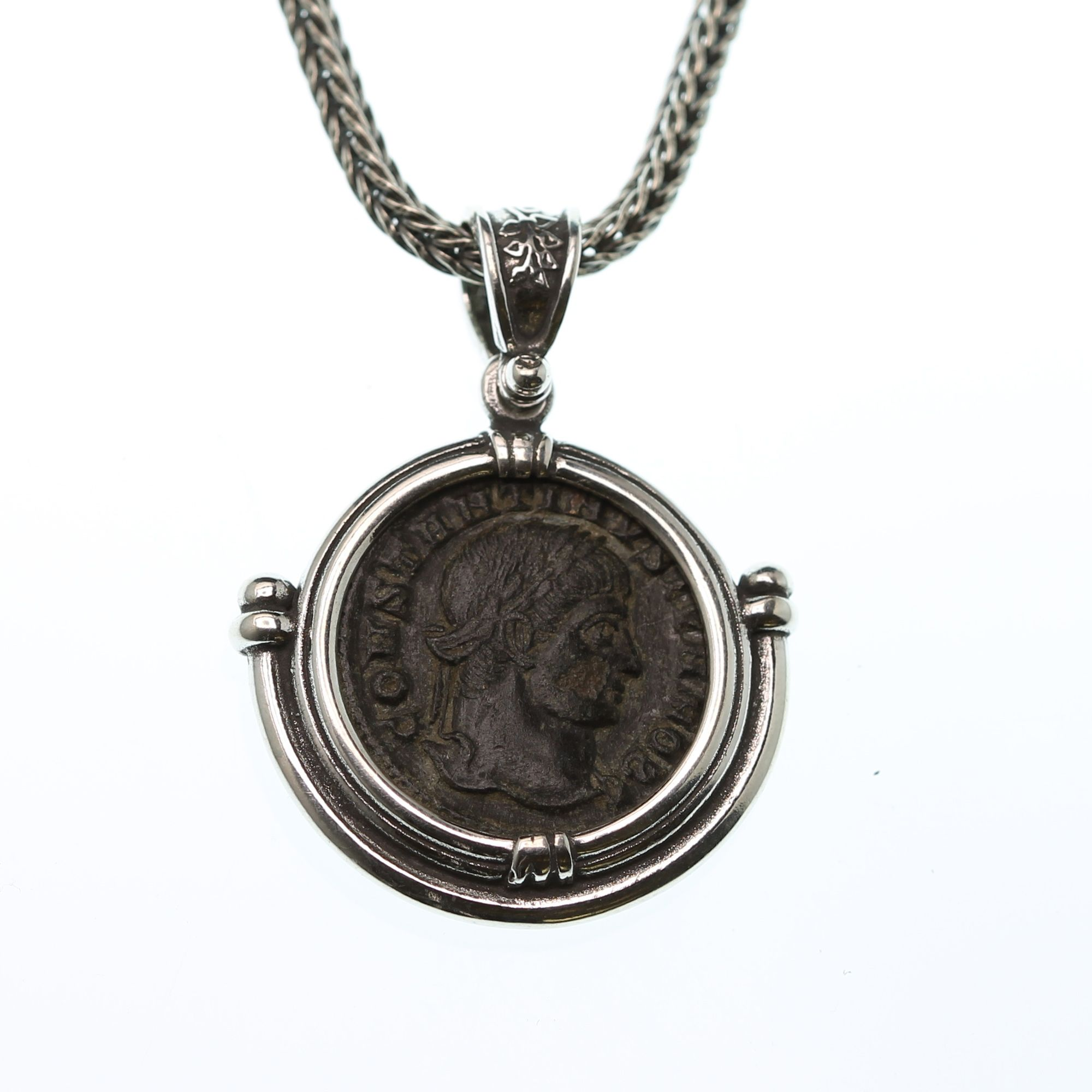 Ancient Roman Coin Necklace Pendant Jewelry  Genuine Ancient Roman Coin