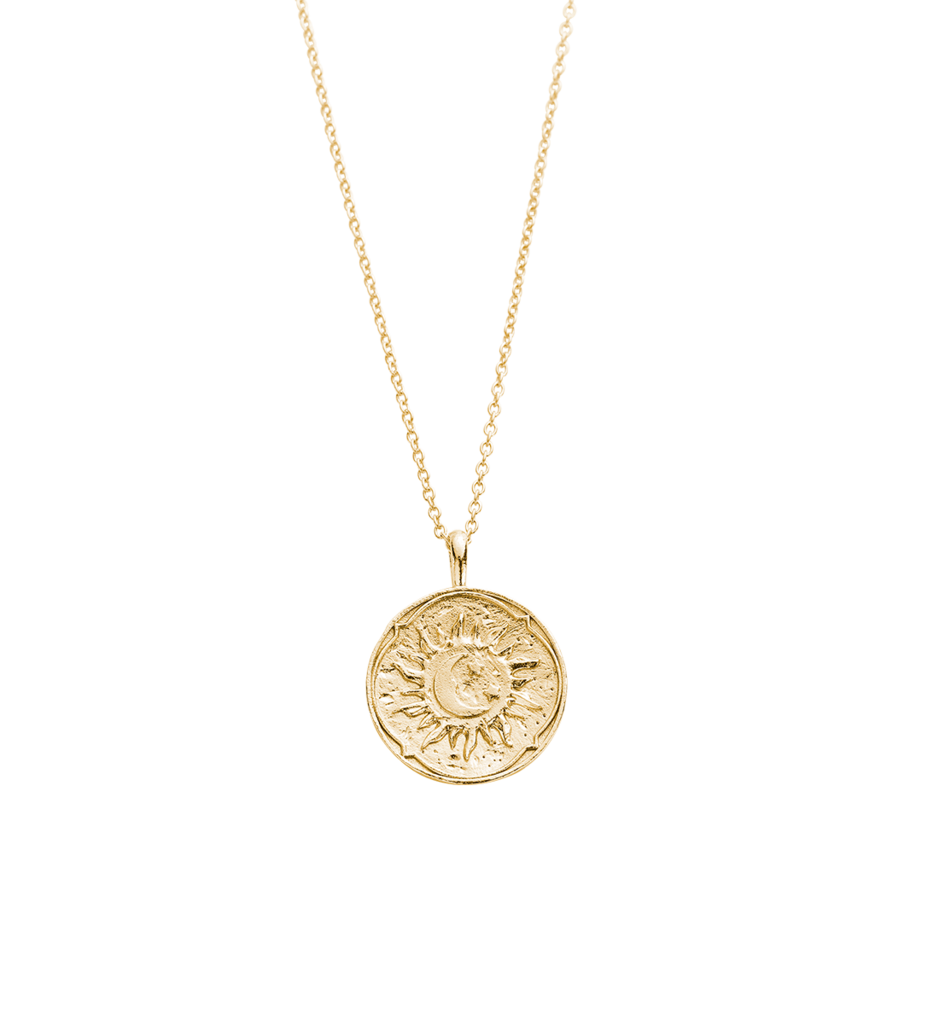 Photo of GOLDEN SUN COIN NECKLACE (14K-GOLD-PLATED)