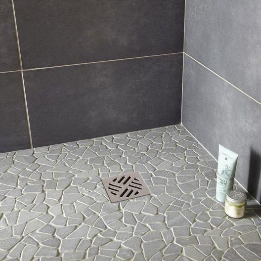 Galets Opus, gris | Salle de bain en 2019 | Leroymerlin salle de ...