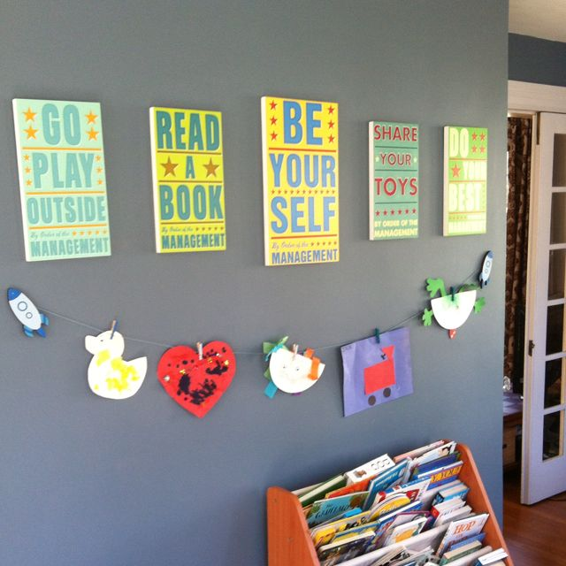 Home Daycare Design Ideas: Our Playroom Wall Decor