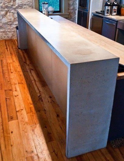 Bat Concrete Waterfull Bar Service Counter Ideas