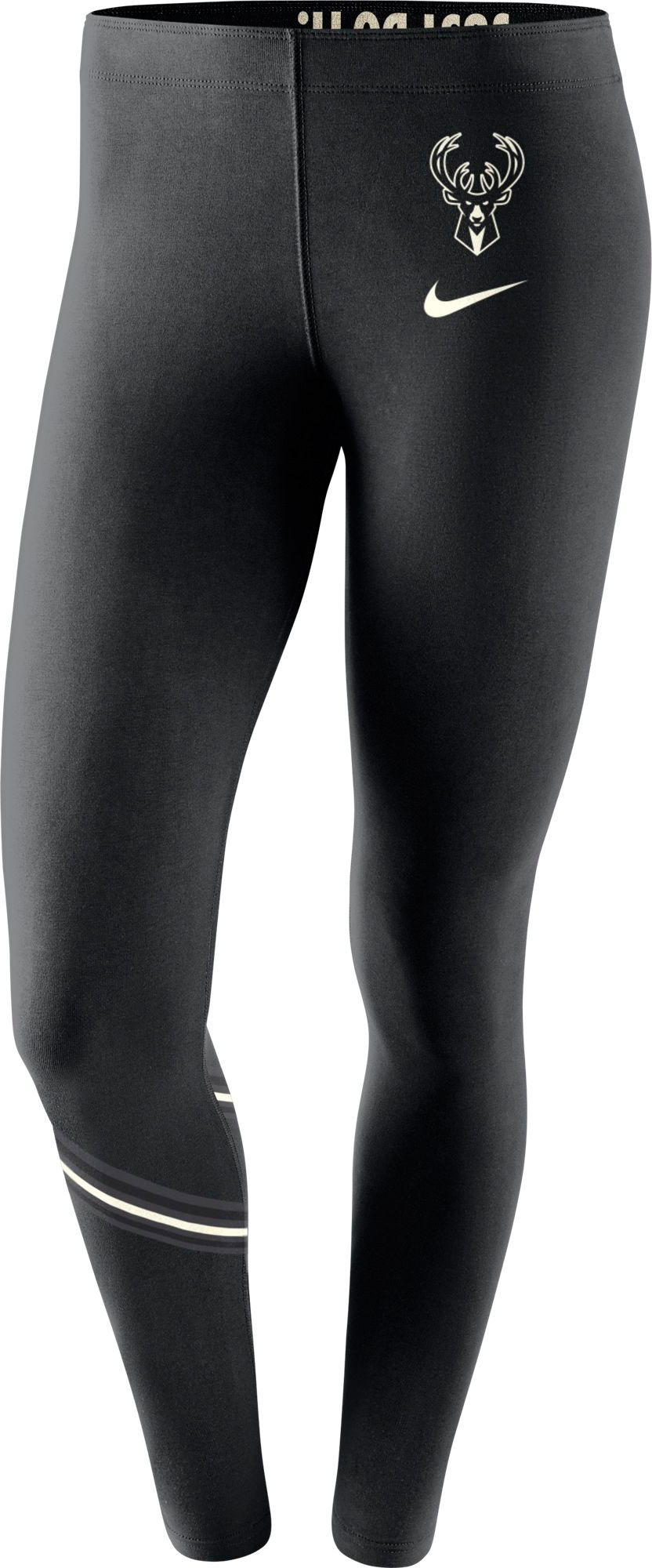 promo code 3de29 b2d3f Nike Women's Milwaukee Bucks Black Leggings | Products ...