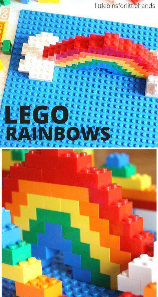 lego rainbow build challenge for kids school ideas lego lego