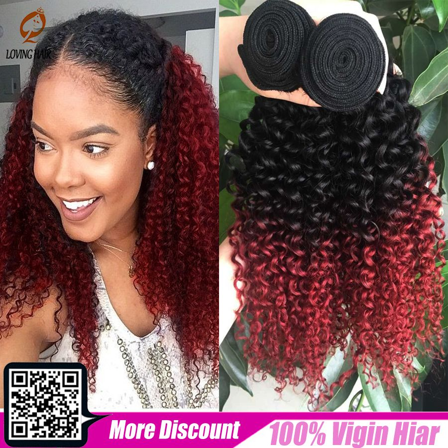 red ombre curly weave & bundles | potential hairstyles | red