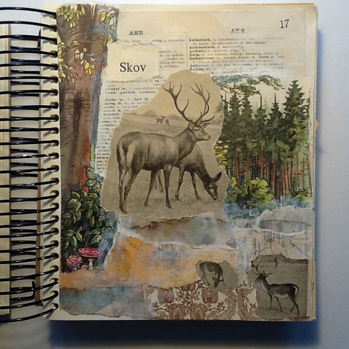 The Journal Diaries- Tina's Collage Journals (Seaweed