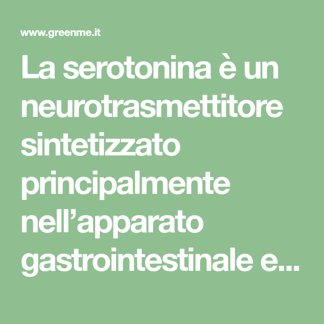 Serotonina Cos E E Come Stimolare L Ormone Della Felicita Greenme It Sistema Nervoso Centrale Sistema Nervoso Consigli Alimentari