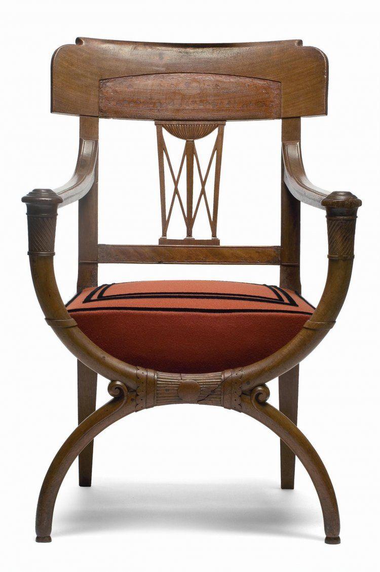 fauteuil curule attri bu jacob fr res paris directoire 1795 1799 les arts. Black Bedroom Furniture Sets. Home Design Ideas