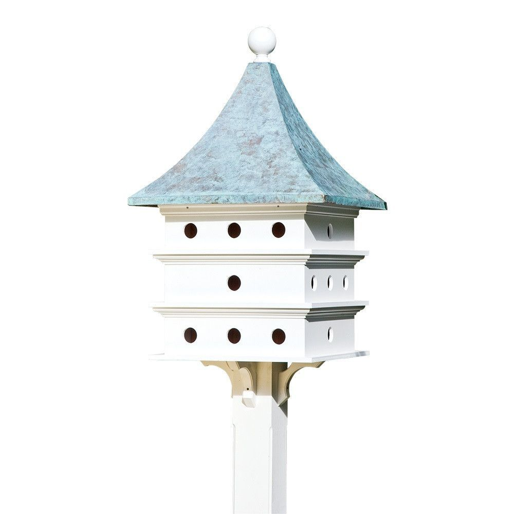 Lazy Hill Farm Designs Ultimate Martin Bird House With Blue Verde Copper Roof Bird House Martin Bird House Purple Martin House