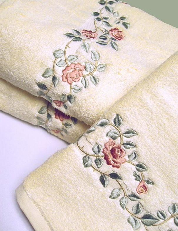 Hh 1648 Rose Toalhas Bordadas Toalhas Decorativas Toalhas De