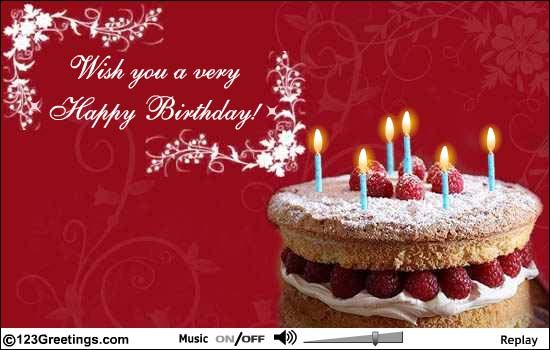 Aw my parents send me a happy birthday ecard Dear Amy Wishing – 123 Greetings Birthday Cards
