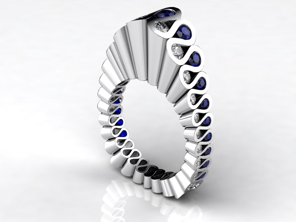 Fluted; Erik Stewart. Jewelry News Network: 2011 Niche Award Winners in Jewelry Design
