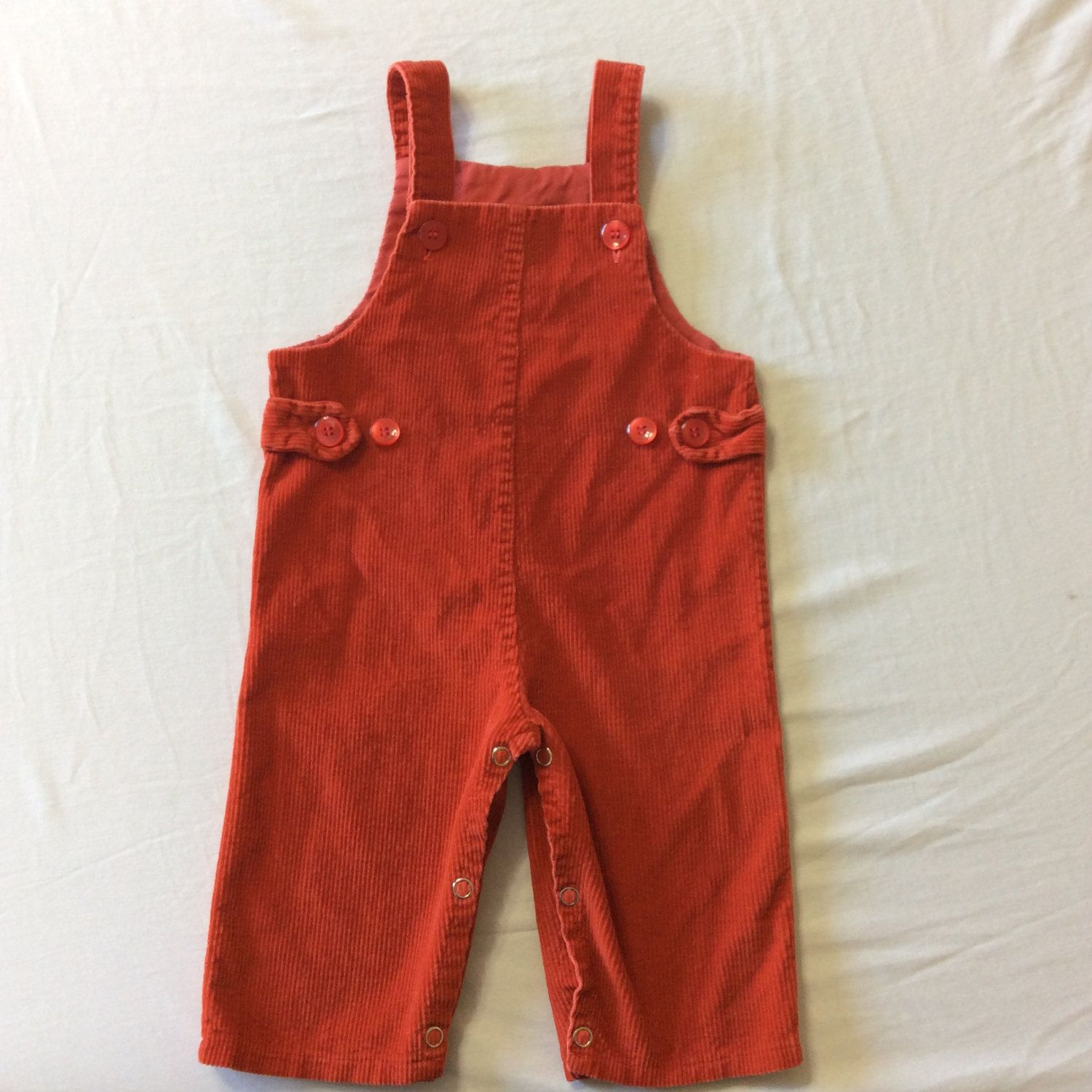 Vintage Baby Overalls Vintage Baby Boy Clothes 1960 s Red