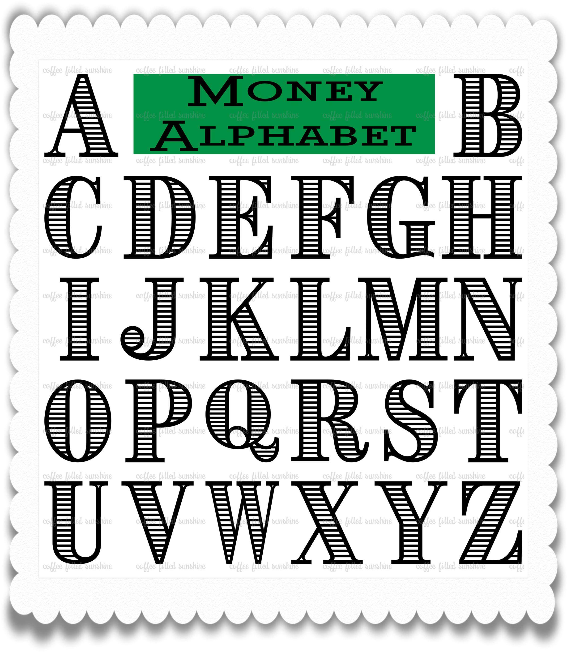 Download MONEY FONT, SVG Money Letters, Currency Font, Digital Cut ...