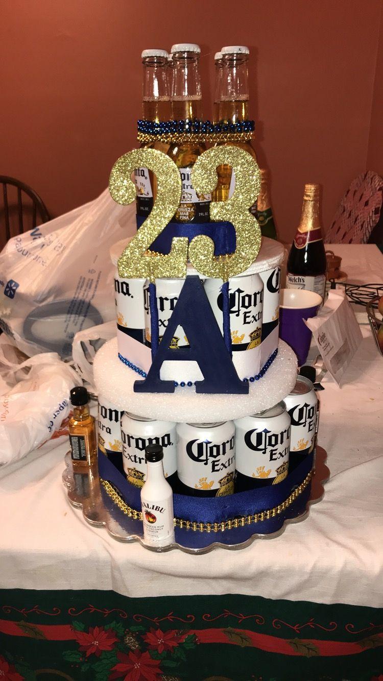 Corona Beer Cake   Beer birthday, Birthday beer cake, Beer ...