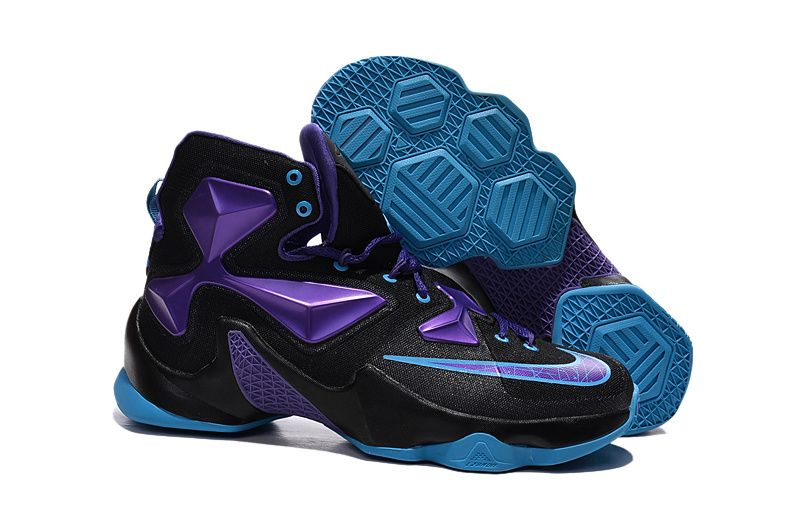 Cheap Nike LeBron XIII 13 Black Purple Blue Basketball Shoes 2015 New  Release on sale