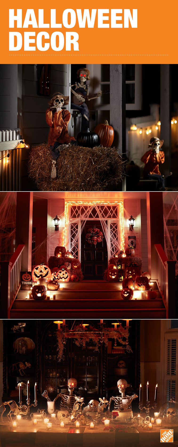 this halloween take your decoration ideas to the next level with an assortment of frightful decorations from the home depot from lights with special