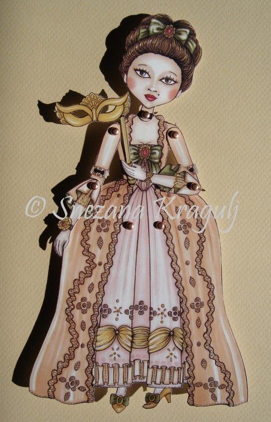El muñeco de papel de Duquesa-carnaval por katyandthecat en Etsy